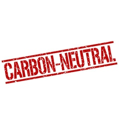 Carbon-neutral stamp vector