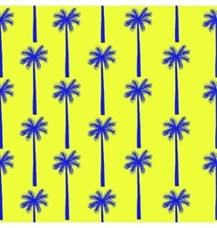 Palm tree seamless pattern botanical vector