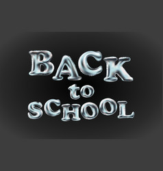 Back to school poster with text balloon vector