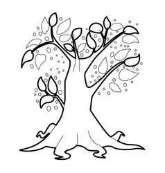 Big tree icon outline style vector