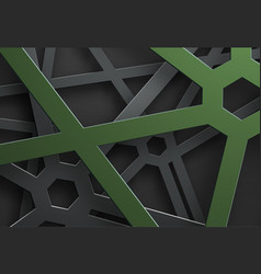 black background of tangled lines in a web with a vector image
