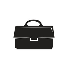 business briefcase icon vector image