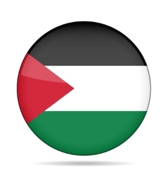 Button with flag of palestine vector