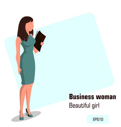 Character beautiful business woman 12 vector