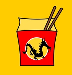 Chinese fastfood restaurant logo vector image vector image
