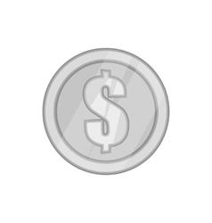 Coin icon black monochrome style vector