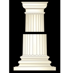 column in classic style vector image