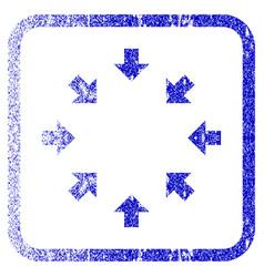 Compact arrows framed textured icon vector