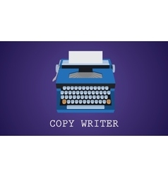 copywriting copywriter with type vector image