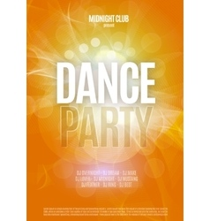 Dance Party Night Poster Background Template vector image vector image