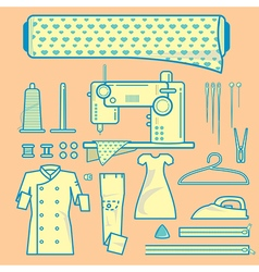 Graphic element of fabric needleworks vector image vector image