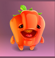 Happy pepper icon vector