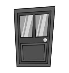 Interior door icon black monochrome style vector image vector image