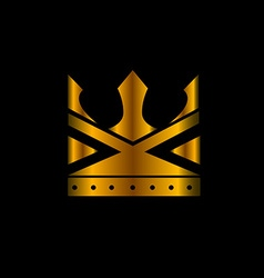 Isolated crown vector