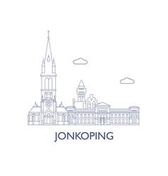 jonkoping vector image vector image