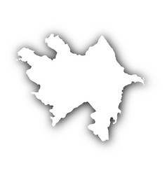 Map of azerbaijan with shadow vector