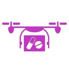 Medical quadcopter icon vector