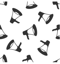 Megaphone icon seamless pattern on white vector