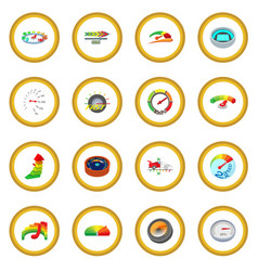 Meter icon circle vector