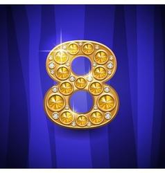 Number 8 vector
