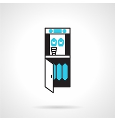 Purifier water cooler flat icon vector image vector image