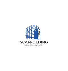 Scaffold logo template vector
