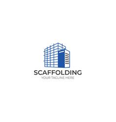 scaffold logo template vector image