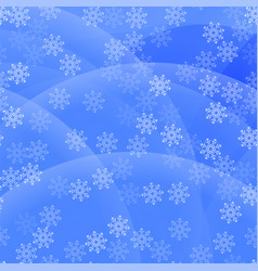 Showflakes pattern on blue sky background vector