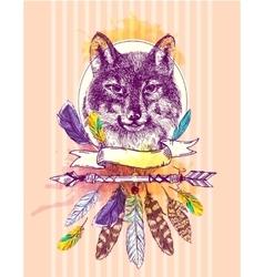Sketch of wolf vector