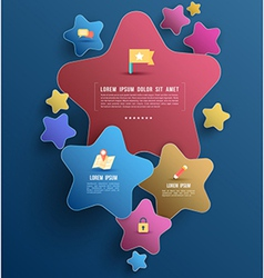 Star group with icons vector