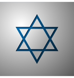 Star of David Israel Star of David cut vector image
