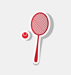 Tennis racquet sign new year reddish icon vector