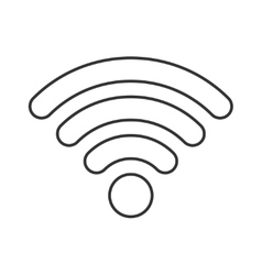 Wireless thin line icon vector