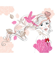 woman background vector image vector image