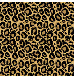 Seamless pattern with leopard fur texture vector