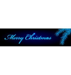 merry christmas blue banner vector image