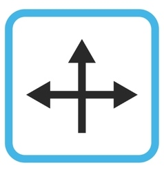 Intersection directions icon in a frame vector