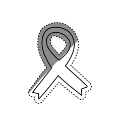 Isolated ribbon peace vector