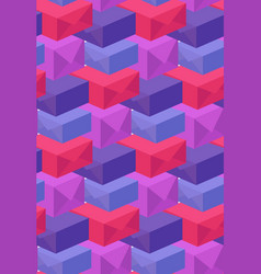 Pattern of multi-colored boxes vector