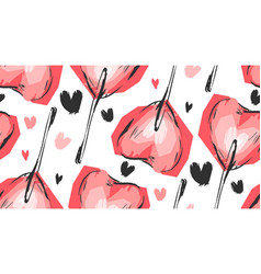 hand made graphic valentines day seamless vector image