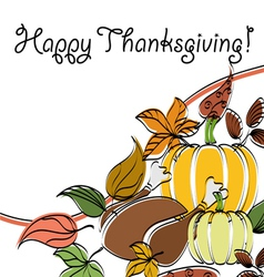 Abstract thanksgiving text frame vector