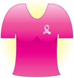 cancer ribbon shirt vector image