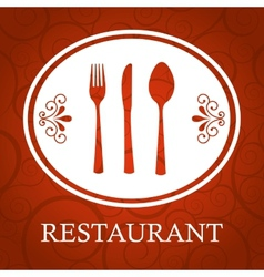Restaurant cover vector