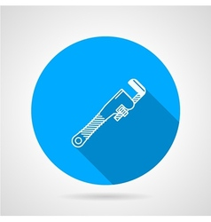 Pipe wrench flat icon vector