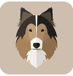 Animal Portrait With Flat Design Dog vector image