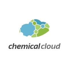 Abstract icon chemical cloud vector