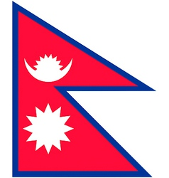 Nepalese flag vector