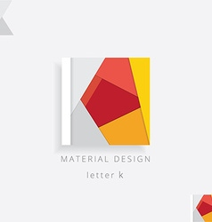 Letter k colorful design element vector