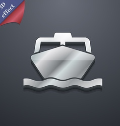 Boat icon symbol 3d style trendy modern design vector