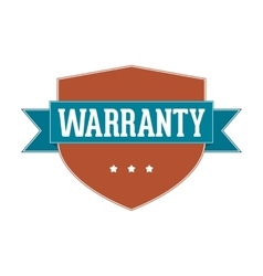Vintage label - warranty vector